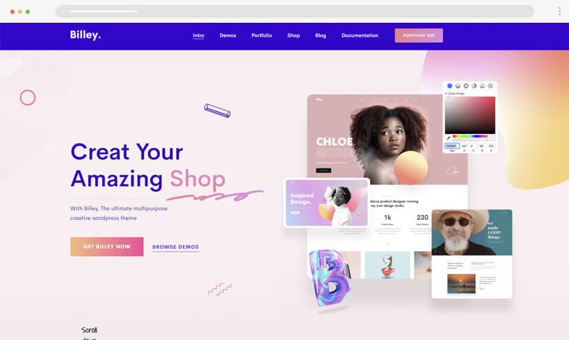 website design idea: gradients in web design - example 4