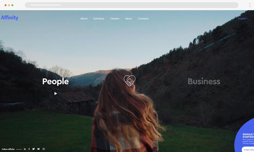 website design idea: video in web design - example 1