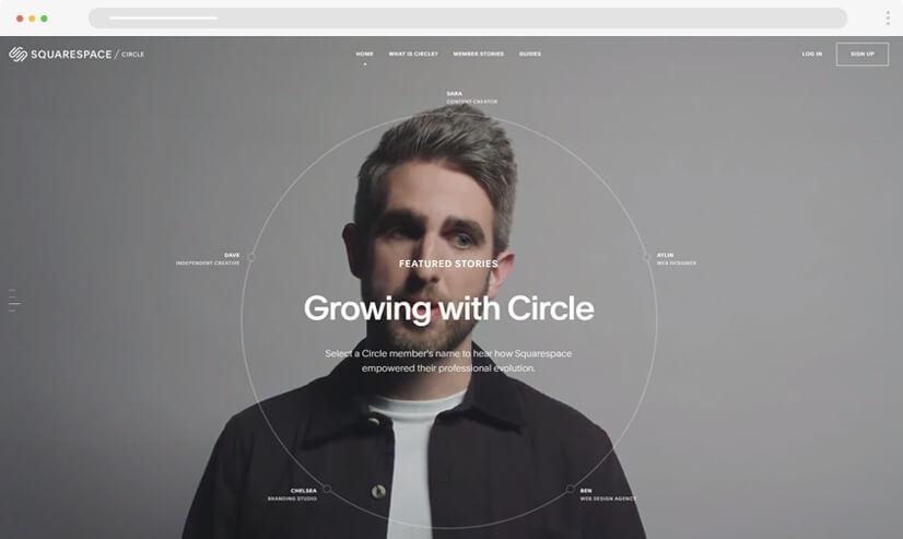 website design idea: video in web design - example 3