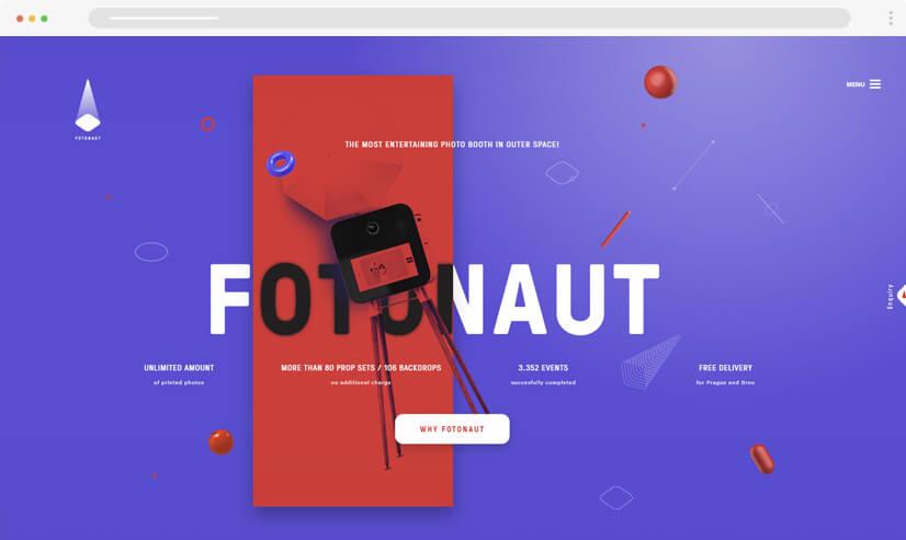 website design idea: big fonts in web design example 1