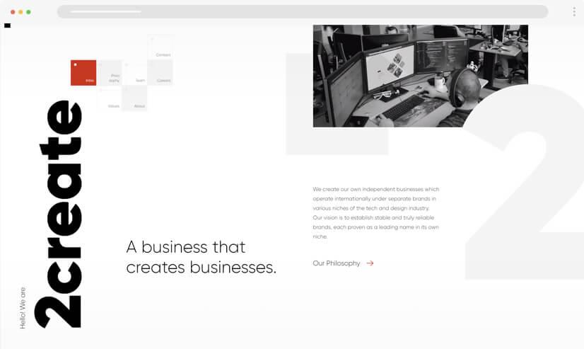 website design idea: big fonts in web design example 2