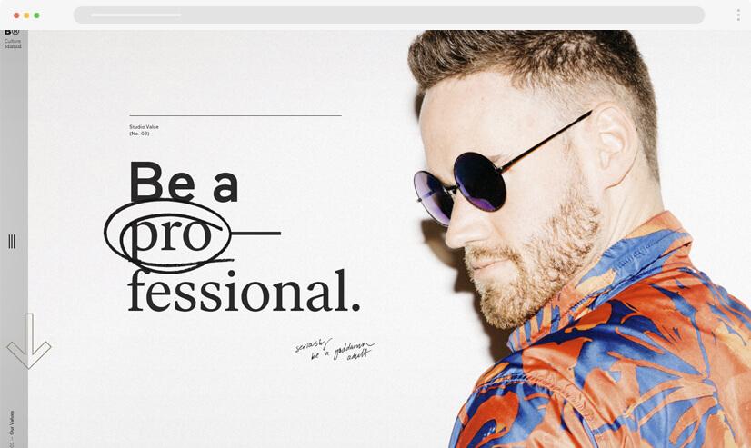 website design idea: big fonts in web design example 3