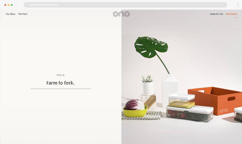 website design idea: split screen in web design - example 1