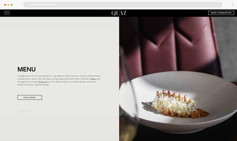 website design idea: split screen in web design - example 2