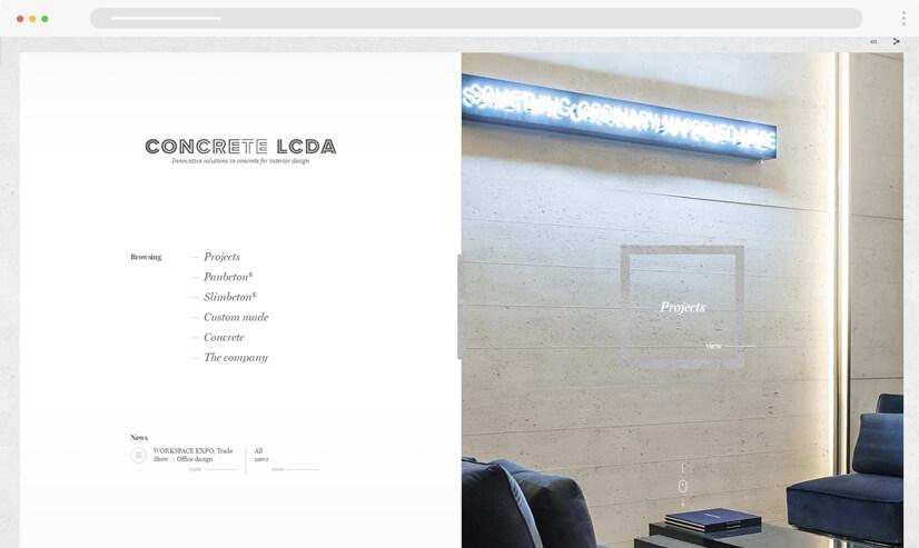 website design idea: split screen in web design - example 3