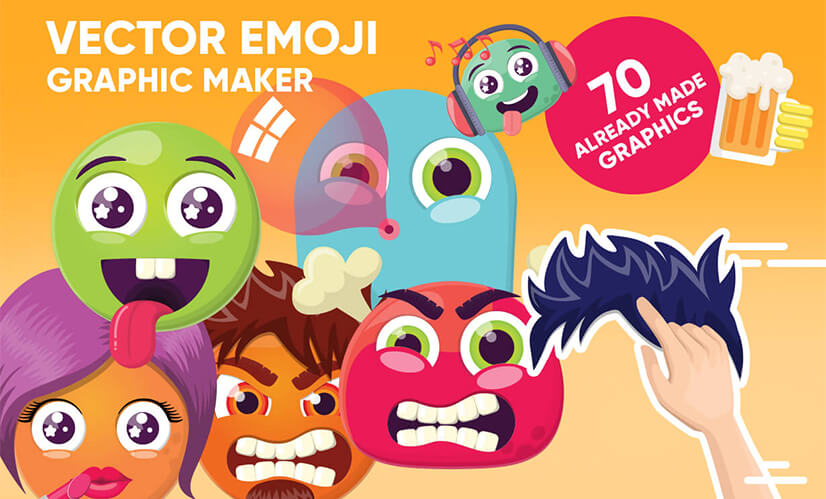 vector emoji graphic maker