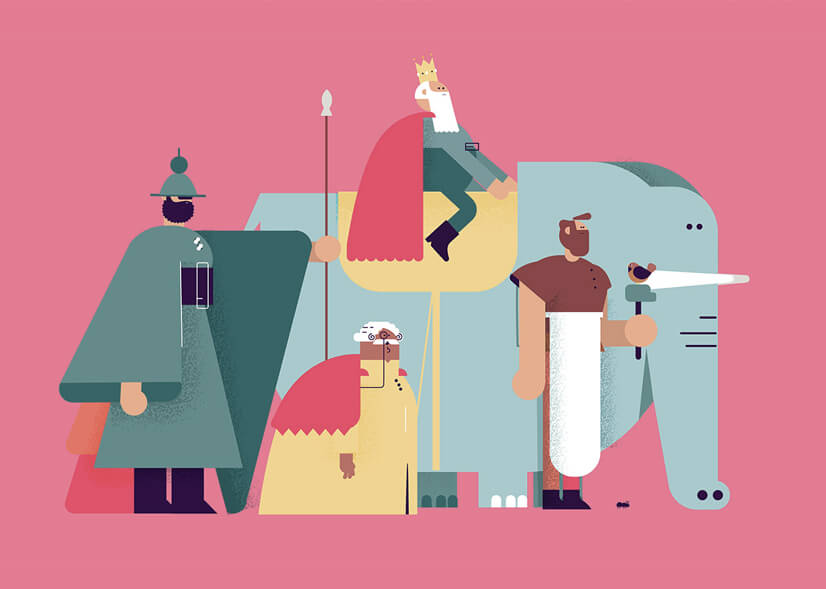 amazing geometry character illustration