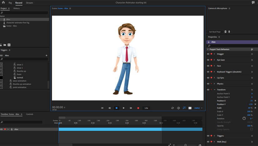 Adobe Character Animator Imported Puppet