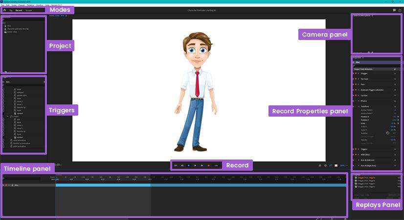 Adobe Character Animator Interface