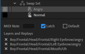 Latch trigger in adobe character animator