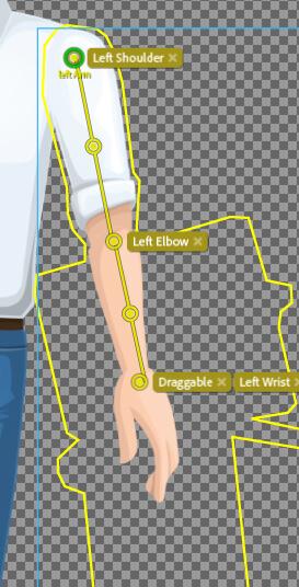 Stick tool making bones Character Animator