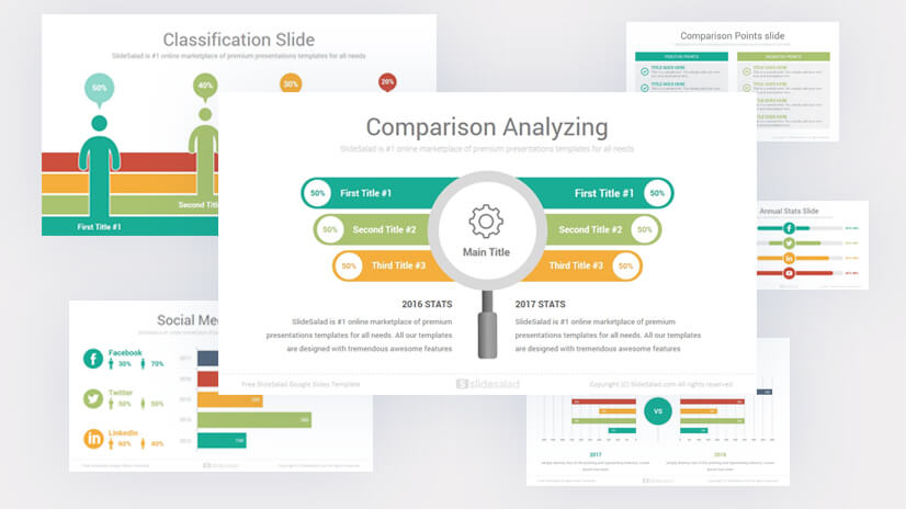 Free Annual Report Google Slides Template Presentation
