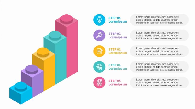 5 Steps Bar Charts Infographics Free Google Slides Theme