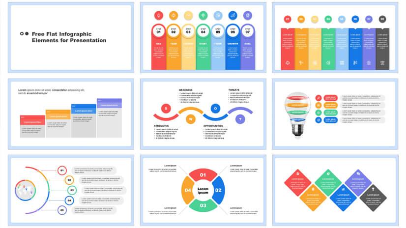 Free Flat Infographic for Google Slides