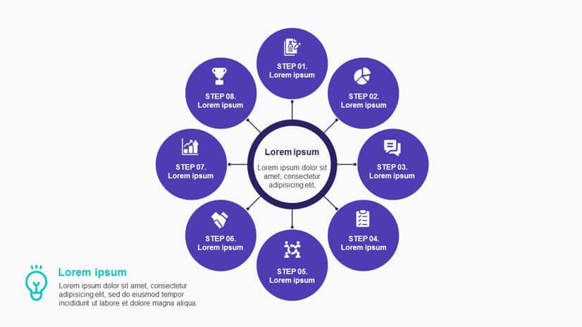 Free 8 Step Business Concept Diagram Template for Google Slides