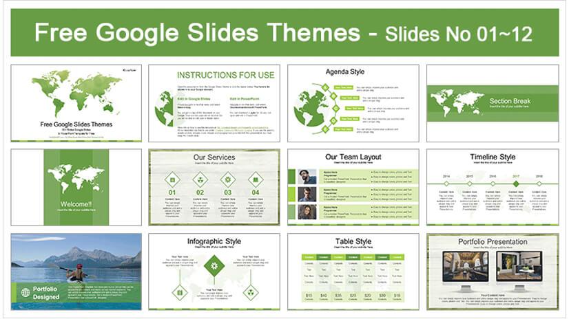 World Map Business Google Slides Theme