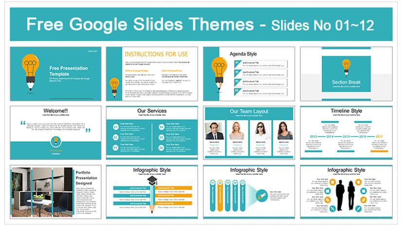 Education Idea Bulb Google Slides Template