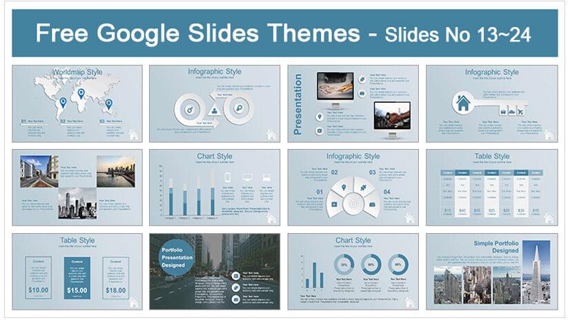 Real Estate House Icons Google Slides