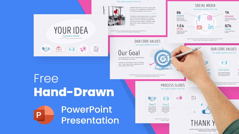 Free Hand-Drawn Presentation for PPT and Google Slides