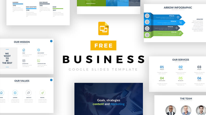 Free Business Google Slides Template with Infographics