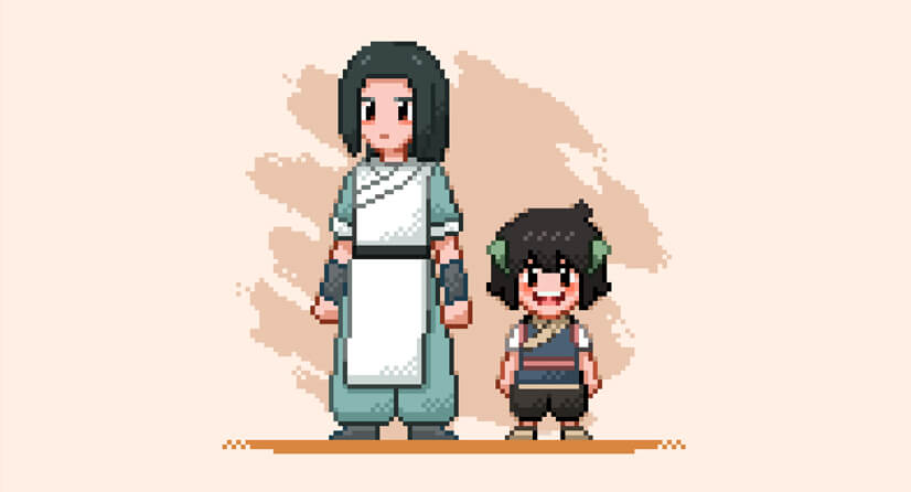 Pixel Character Illustration Style Example