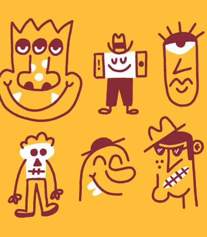 fun doodle illustrations