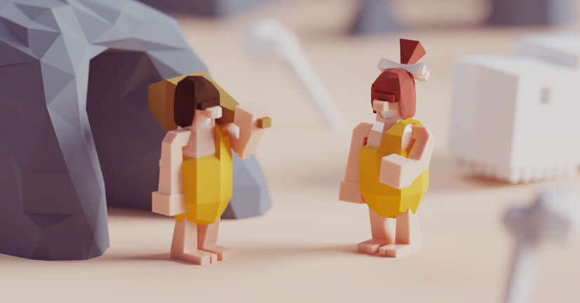 Beautiful low-poly character illustration example