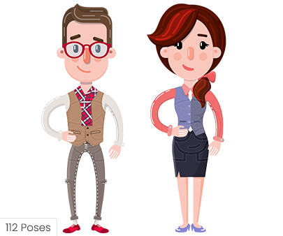 Flat style character illustration by GraphicMama