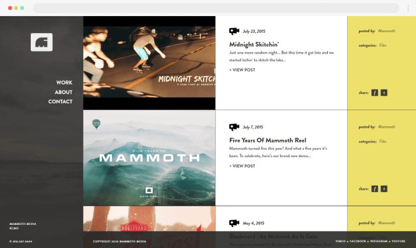 Desain Blog Mammothmedia
