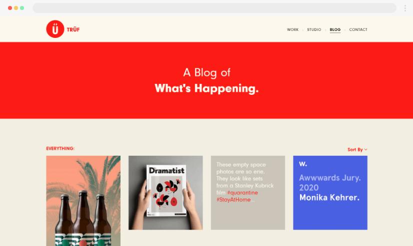 Desain blog yang kreatif