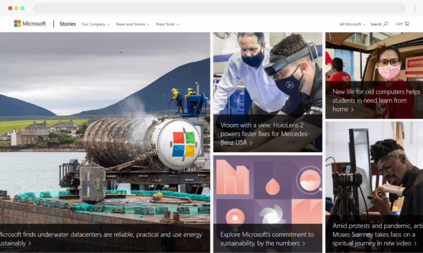 Desain blog News.microsoft