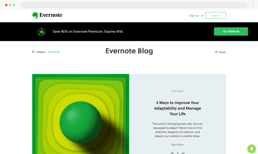 Desain Blog Evernote