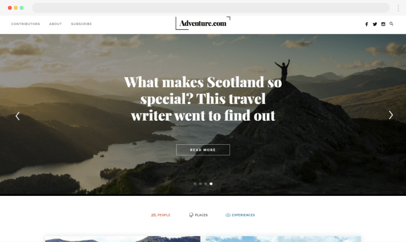 Desain Blog Petualangan