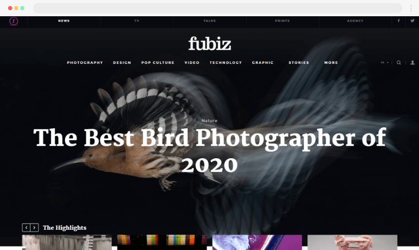 Desain blog Fubiz