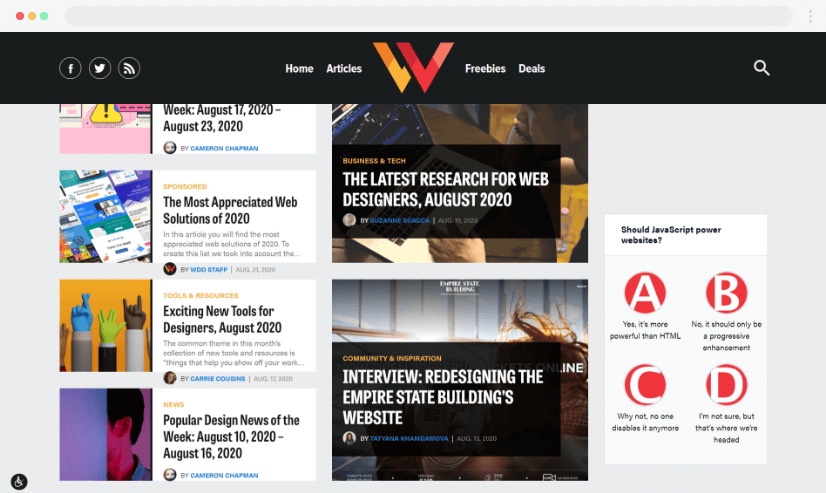 Webdesignerdepot desain blog