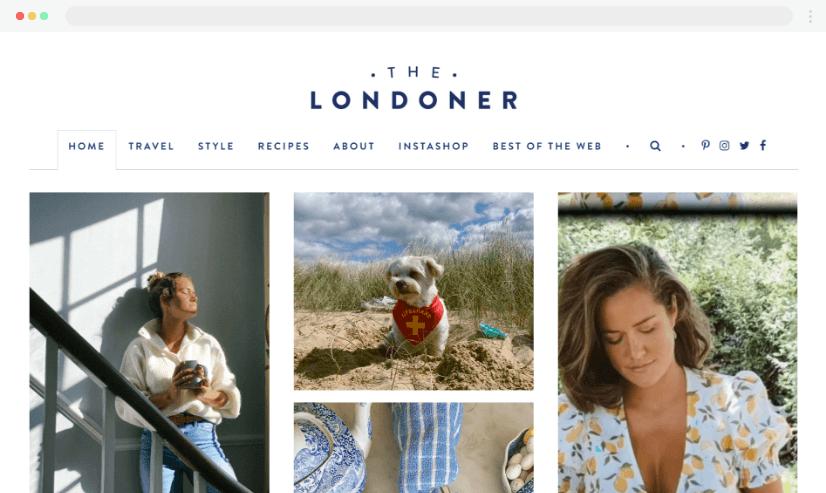 Desain Blog Thelondoner