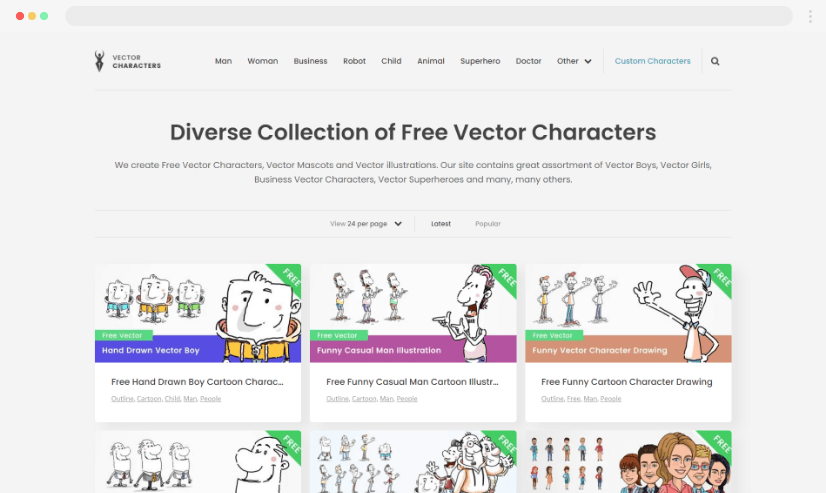 vector characters stock illustrations