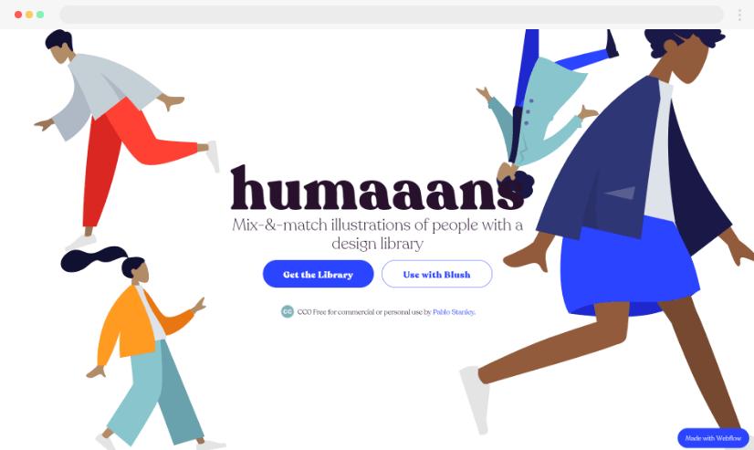 Humaaans free stock illustration website