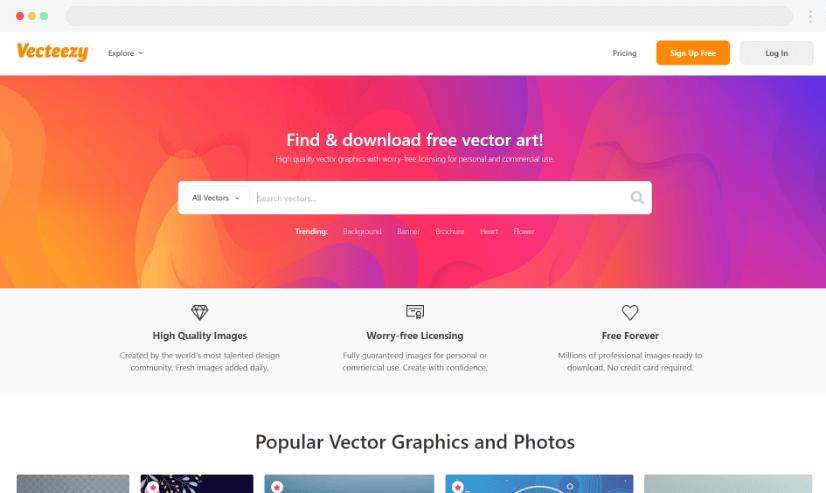 Vecteezy free stock graphics