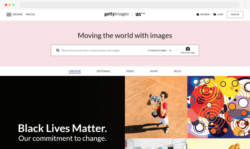 Getty Images - stock graphics and images