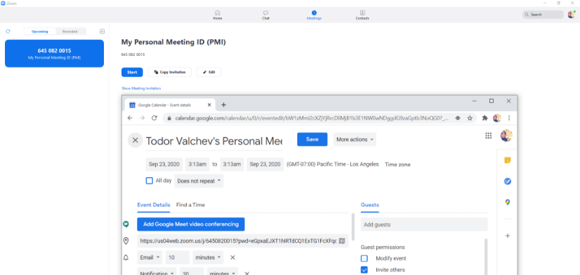 tip - connect with google calendar