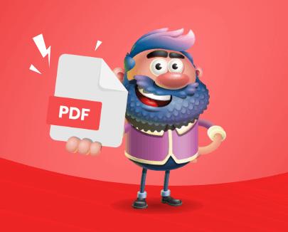 PDF vector-raster image file Format