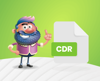CDR editable image file format