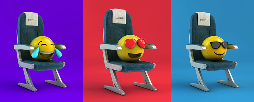 3D emoji style design for commercial