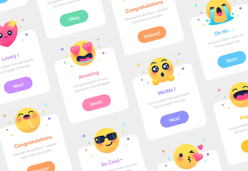 Emoji Illustrations for website design