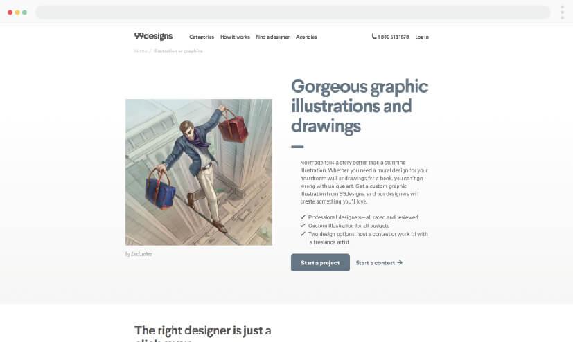 99 Designs - Illustration freelancers