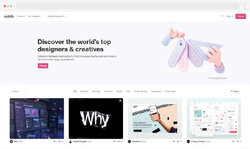 2 ideas para hacer sitios web  Dribbble