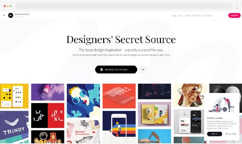 3 ideas para hacer sitios web Muzli