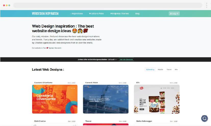 6 Inspiración para el diseño web Inspiración para el diseño web