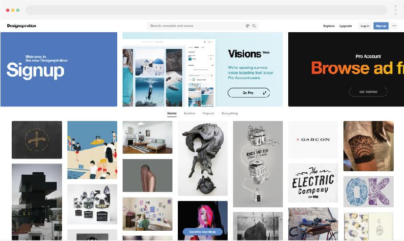 8 Inspiración para el diseño web Inspiración para el diseño